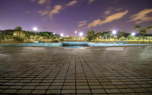 Foto da piscina de ondas do Parque da Cidade
